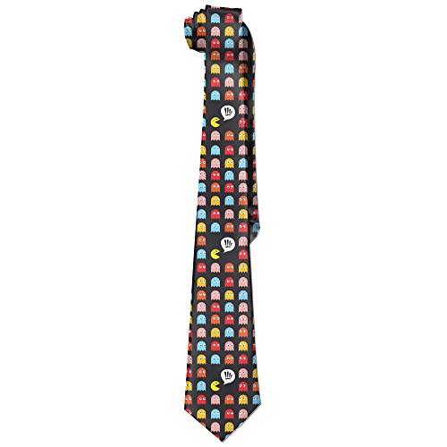 Pac-Man Characters Skinny Tie For Men. Add a touch of 80s fun to your stressful day at the office.