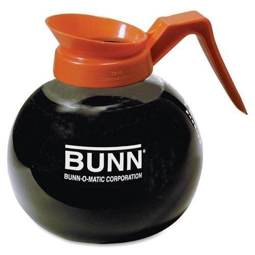 BUNN 12-Cup Decanter, Decaf, Clear/Orange handle (424010101)