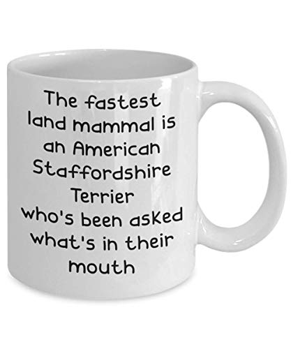 American Staffordshire Terrier Mugs - White 11oz 15oz Ceramic Tea Coffee Cup - Perfect For Travel And Gifts 2