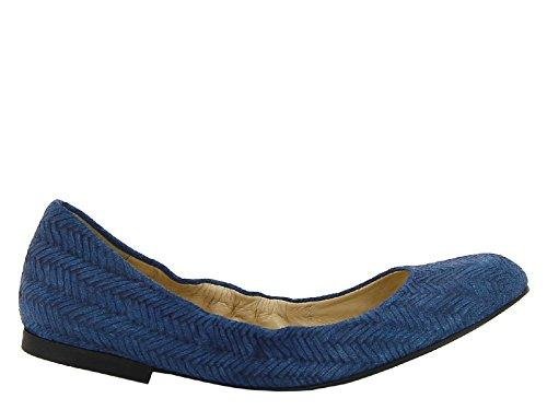 Semsket Blått 874501 Castaner I Modellnummer 5cav5 Medium Skinn Leiligheter Ballerina RWa7P