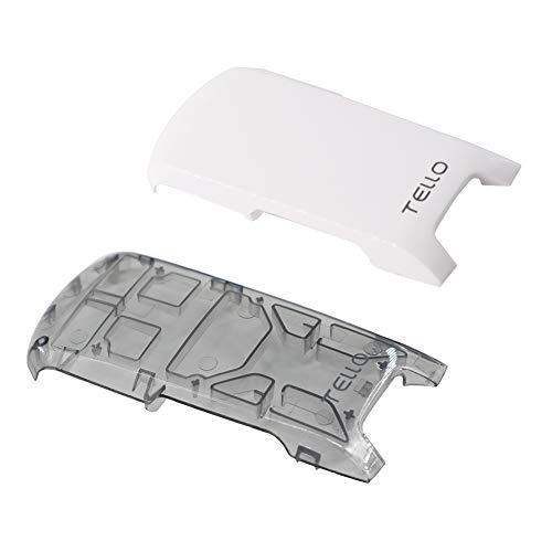 BTG 2PCS Specialized Snap-On Top Cover Back Shell Body Case for DJI Tello Drone (Trans-Gray + White)