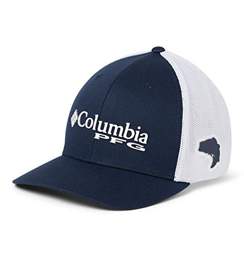 Columbia Men's PFG Mesh Ball Cap, Collegiate Navy, Large/X-Large