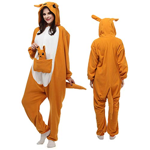 Animal Onesie Adult Womwn/Men Kangaroo Costume Teen Cosplay