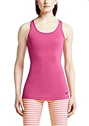 New Nike Women's Pro Hypercool Fitted Tank 2.0 Hot Pink/Dark Fireberry Large