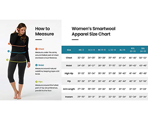 Smartwool Women's Base Layer Top - Merino 250 Wool Active Crew