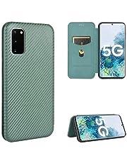 Samsung S20 FE Flipfodral Kortfack CarbonDreams® Grön
