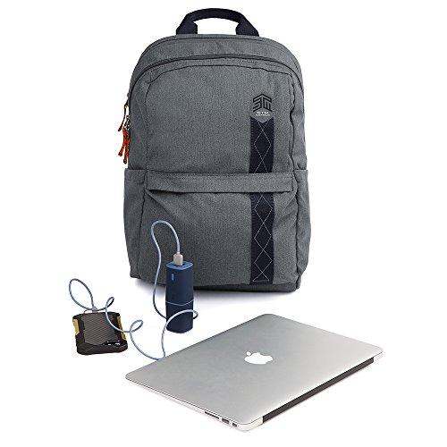 STM Banks Backpack For Laptop & Tablet Up To 15'' - Tornado Grey (stm-111-148P-20) by STM (Image #5)