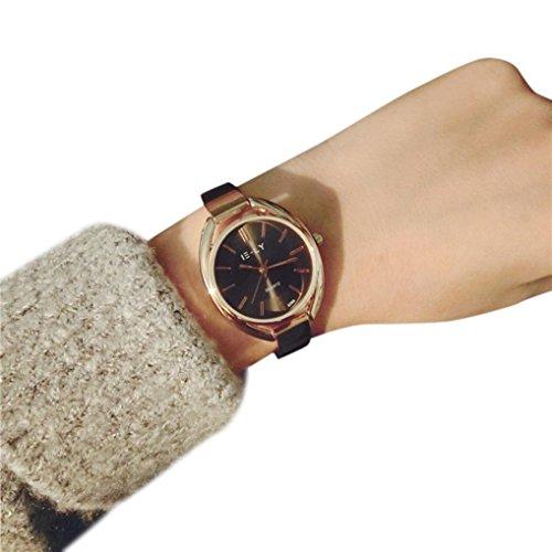 Price comparison product image Hot Sale! AMA(TM) Women Ladies Big Dial Wrist Watch Quartz Bracelet Watches Gifts (black)
