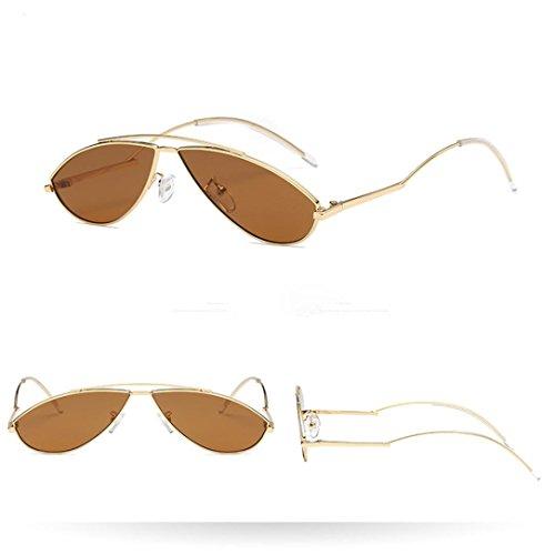 Femmes C Unisexe Hommes Color Sunglasses Lunettes Rawdah De Eye Rapper Man Frame Vintage Été Fashion Cat Rétro Soleil qCTFPSwxa