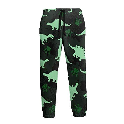 KATERN Cute Kid Colorful Dinosaurs Women/Men Unisex Sweatpants 3D Track Baggy Trousers M (Kids Pants Seahawks Track)