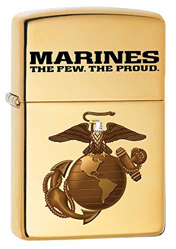 Zippo Lighter: USMC Marine Corps Logo - High Polish Brass 79704