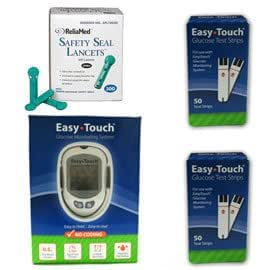 Amazon.com: Easy Touch Glucose Monitor Kit Combo (Meter