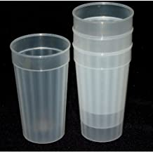 Talisman, 24 Plastic Fluted Drinking Tumblers, Large 32 Ounces (Natural)