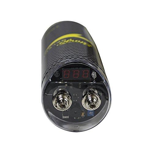Stinger SSCAP2M Brushed Aluminum 2 Farad Digital Capacitor