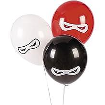 Fun Express BB13628879 Ninja Warriors 11 in Latex Balloons 25 Pack