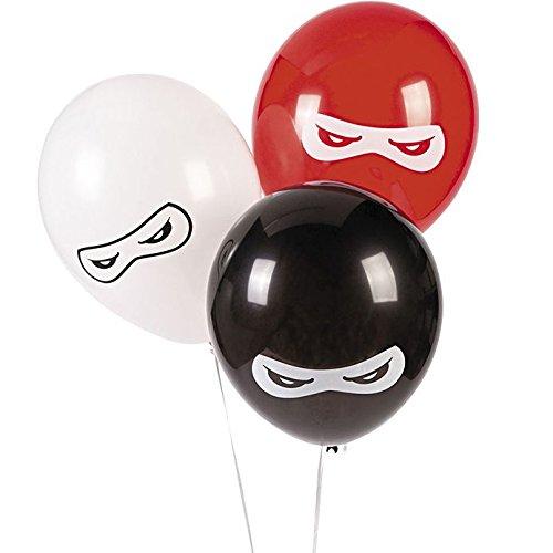 (Fun Express BB13628879 Ninja Warriors 11 in. Latex Balloons 24)