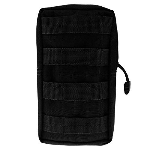 Qianghong Tactique Modulaire Pochette Sac Utilitaire Accessoire Militaire - Taille unique, Noir 5