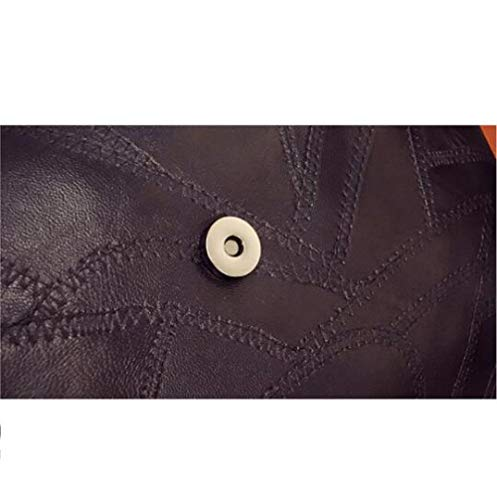 Main Femmes Rivet Loisirs PU Haute DHFUD Zipper Dîner Black Sac Capacité Noir Sac à 1qIxxBwg
