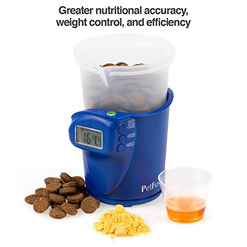 PetFusion Digital Food Scale & Scoop for Dry Dog Food & Cat Food (1, 2 Cup). [Precision Dog Food Measuring Cup for…