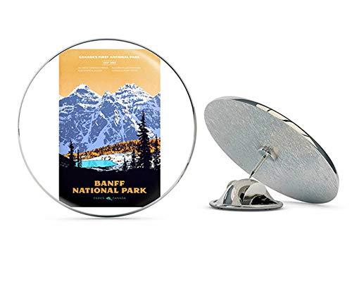 NYC Jewelers Banff Art Poster (rv National Park Hike Canada) Metal 0.75