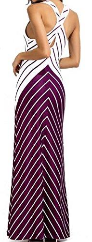 Prendisole Cruiize Colore Collo Maxi Croce Di Contrasto Rosso Vestito Womens Paletta Al Strisce xTCd0qTwp