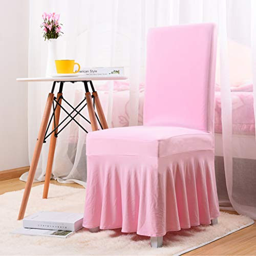 Chair Cover Plain Simple Elasticity Skirt Side All Inclusive Wedding Restaurant Home Decoration Lace Seat Case