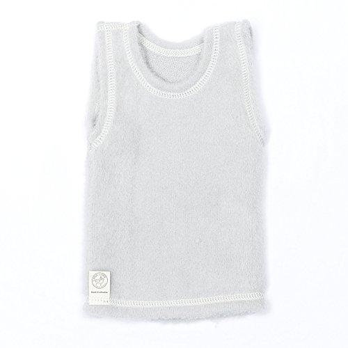 LANACare Baby/Toddler Vest in Organic Merino Wool (80 (9-12 mo), Soft Grey) ()