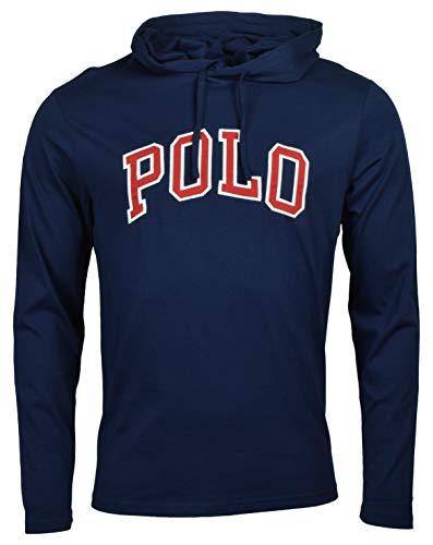 Polo Ralph Lauren Mens Hooded T-Shirt Jersey Knit Hoodie Tee Shirt (Large, Cruise ()