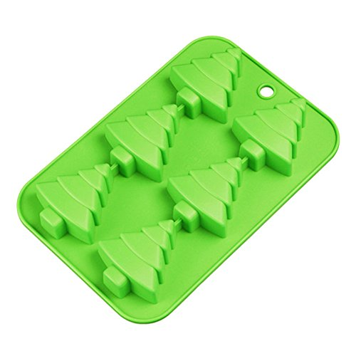 Christmas Jello Mold - Efivs Arts 6 Christmas Tree Silicone Cake Baking Mold Cake Pan Handmade Soap Moulds Biscuit Chocolate Ice Cube Tray DIY Mold 10