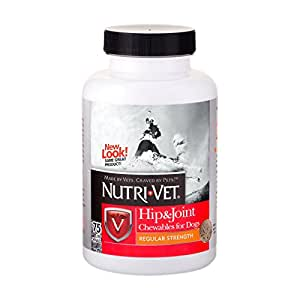 Nutri-Vet Hip & Joint Regular Strength Chewable Tablets for Dogs, 75-Count