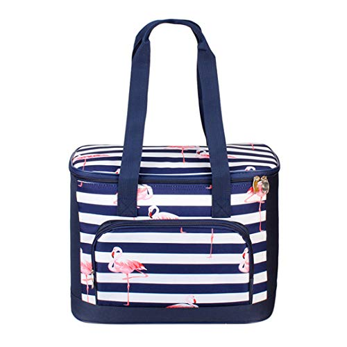 - 19L Lunch Bags Canteen Bag Flamingo Storage Portable Lunchbox Thermal Insulated Multi-Function Cooler Bag Fresh Keep Blue