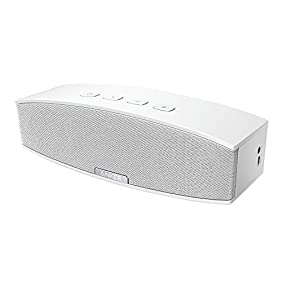 Anker 20W Premium Stereo Bluetooth Portable Speaker with Dual 10W Drivers, Two Passive Subwoofers, Wireless Speaker for iPhone, Samsung, Nexus, and More - White