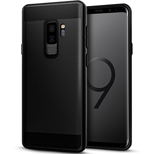 Heavy Duty Aaa Cell - Galaxy S9 Plus Case, Casgen Brushed Metal Design [Flexible & Slim] Heavy Duty Protection Dual Layer Armor Cover,Anti Slip [Shock Absorption] Case for Samsung Galaxy S9 Plus AAA
