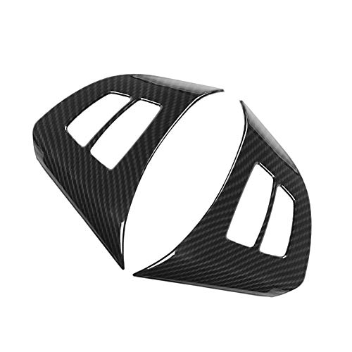 2Pcs Carbon Fiber Steering Wheel Cover Trim Steering Wheel Frame Trim for BMW X5 E70 2008-2013