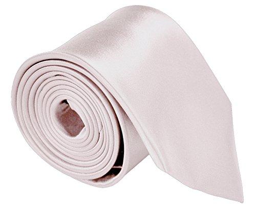 Neckties For Men 3.5 Microfiber Woven Satin Neck Ties For Men Solid Color - Light Pink