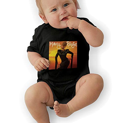 Mary J Blige Small Child Unisex Baby Short Sleeve 0-24 Months Black 0-3M
