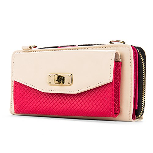 VanGoddy Magenta 5 for amp; Clutch Cream Edge Women's Samsung Venice Wallet Galaxy Note Note 4 68F6nrqwx
