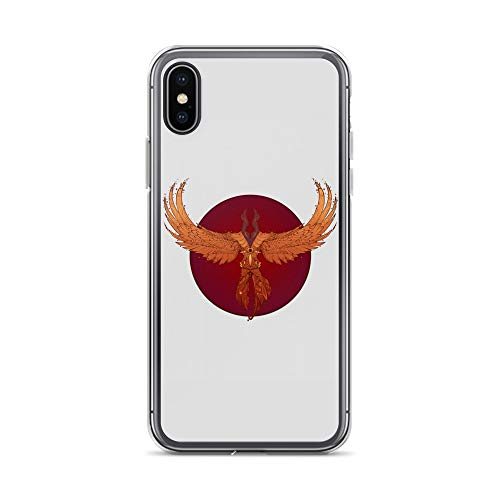 (iPhone X/XS Case Anti-Scratch Gamer Video Game Transparent Cases Cover Patterned Phoenix Gaming Computer Crystal Clear)