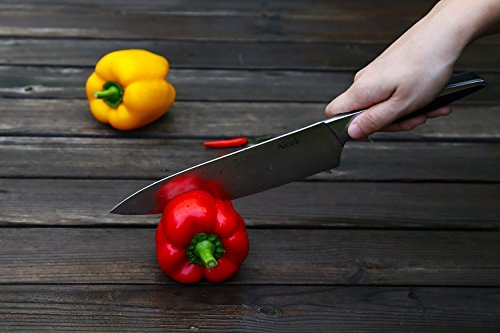 Aicok Chef Knife Pro Kitchen Knife 8-inch High Carbon German Stainless Steel Razor Sharp Blade and Ergonomic Handle by AICOK (Image #8)