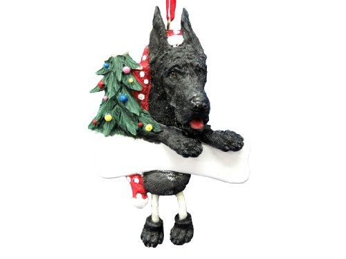 Great Dane Ornament Black with Unique