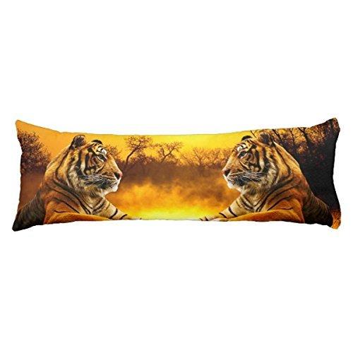 LACOP-Store Tiger - Funda de cojín Cuadrada de poliéster ...