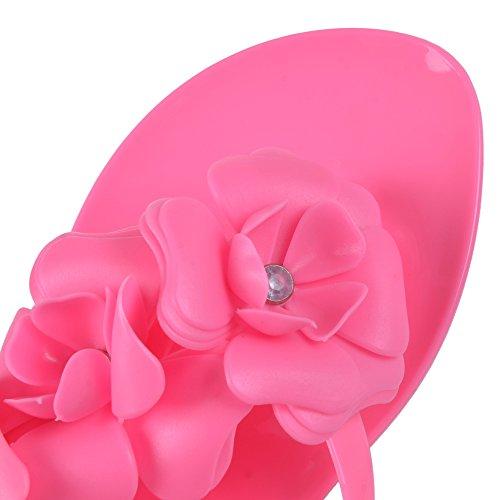 rosso Rosso Hee Sandali Camelie Tridimensionale Jelly Infradito rosa Fiori Grand Donne Brzw8B