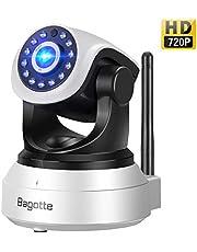 Bagotte Telecamera Sorveglianza Wifi Interno, Videocamera di Sicurezza 720P Wireless IP Camera con Visione Notturna, Audio Bidirezionale, Sensore di Movimento Pan/Tilt, Baby Monitor