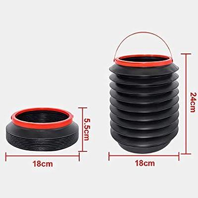 PoeHXtyy Papelera Plegable Contenedor de Almacenamiento Organizador Cubo Plegable para Lavado de Autos//Basura//Pesca//Camping al Aire Libre