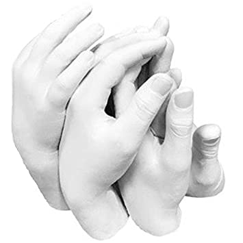 Set 3 3D Casting Kit Holding Hands Print Casts Sculpture Keep Sake Gift Materials