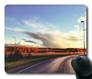 Road View Mouse Pad Desktop Laptop Mousepads Comfortable Office Mouse Pad Mat Cute Gaming Mouse Pad by Maris's Diary