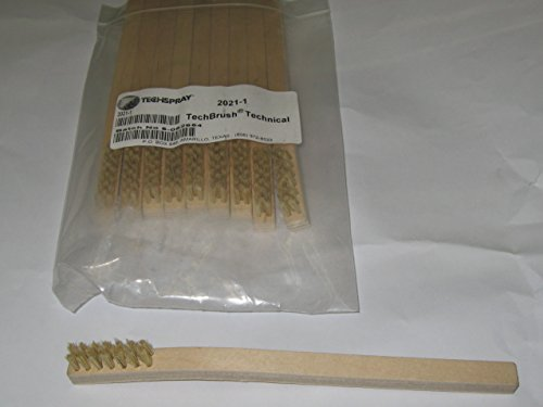 TECHSPRAY 2021-1 BRUSH, CLEANING, 7.75IN, HOG HAIR (10 pieces) by Tech Spray
