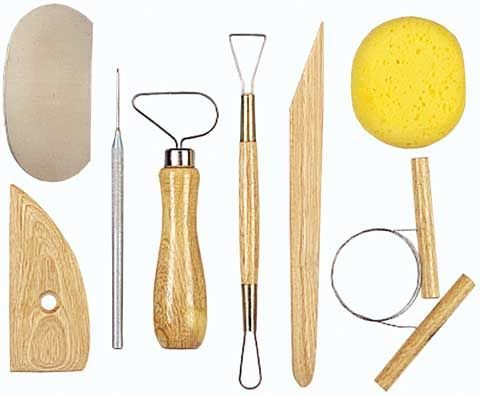 AMERICAN ART CLAY 11035M Basic Pottery/Clay Tool Kit 8pc AAC