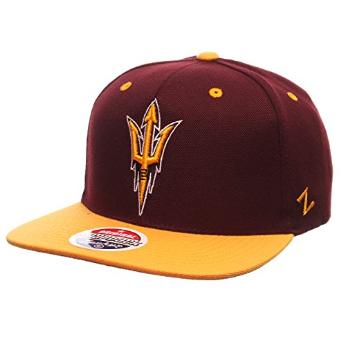 - Zephyr NCAA Arizona State Sun Devils Men's Z11 Snapback Hat, Adjustable Size, Team Color