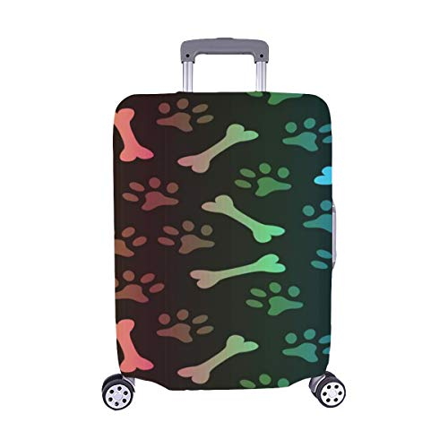 Animal Spectrum Seamless Vector Pattern Of Paw Foo Pattern Spandex Trolley Case Travel Luggage Protector Suitcase Cover 28.5 X 20.5 Inch